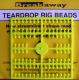 Breakaway Teardrop Beads, gelb, 1 x 96 Perlen