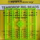 Breakaway Teardrop Beads, grün, 1 x 96 Perlen
