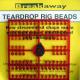 Breakaway Teardrop Beads, rot, 1 x 96 Perlen
