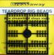 Breakaway Teardrop Beads, schwarz, 1 x 96 Perlen