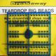 Breakaway Teardrop Beads, mittelblau, 1 x 96 Perlen