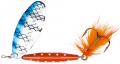 Abu Garcia Reflex Red Spinner, Copper/Blue Flash, 18 g